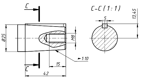 Входной вал редуктора 2ЧМ-80